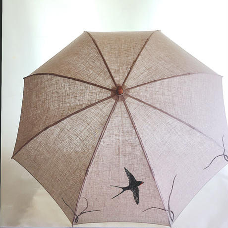 つばめさん刺繍の折りたたみ日傘