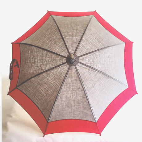 お顔の色が明るくなるスカーレットな日傘