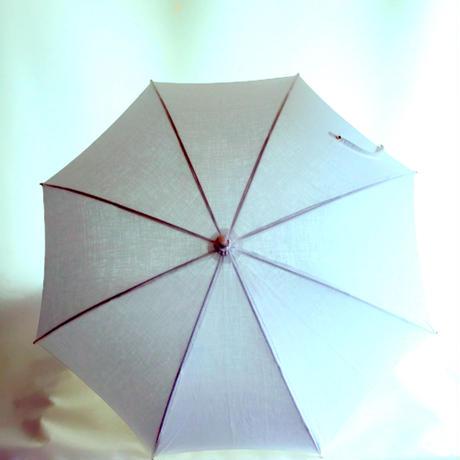 真っ白リネンの日傘