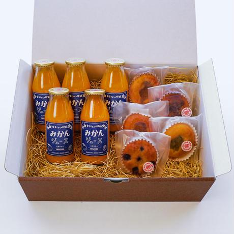 米油のマドレーヌ5個&大津みかんジュース(小)5本セット