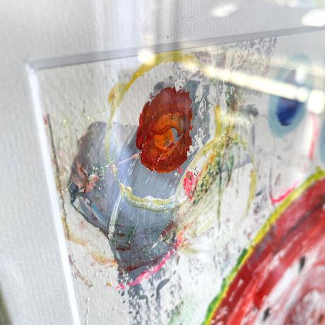 スイカだけど「ひまわり」アクリル画 SATOO ST077