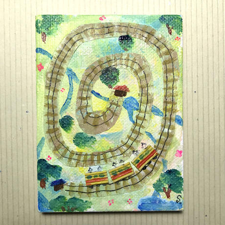 【だ-5】「始点と終点」線路の絵 ST127