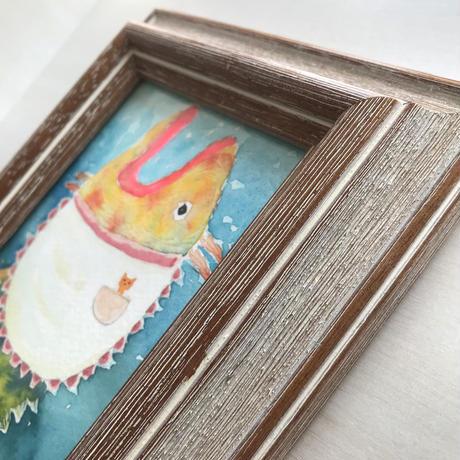 「ゆうげのしたく」魚の絵 ST117