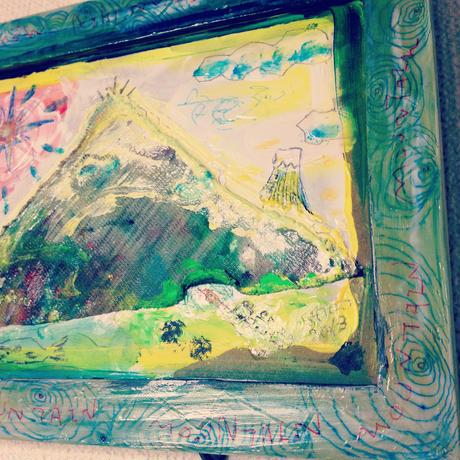 ST052山の絵「サンカクマウンテン」
