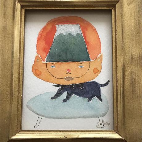 「美熱」猫の絵 ST120