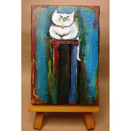 ST038猫の絵「香箱パトロール」