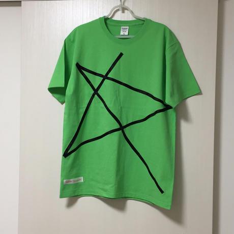 """【2019 SS】サマー カットソーTシャツ グリーン """"STAR"""" 【Satoshi Yamamoto/SY】"""