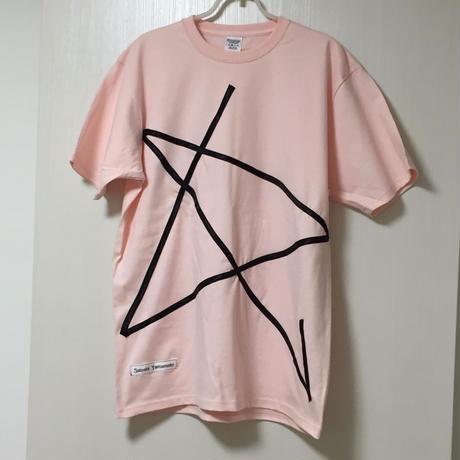"""【2019 SS】サマー カットソーTシャツ ピンク """"STAR"""" 【Satoshi Yamamoto/SY】"""