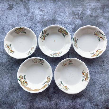 手作り感満載な小皿5枚セット  直径14cm