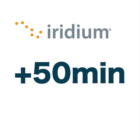 イリジウム 通話時間延長のみ 50分追加プラン チャージ 手数料込み
