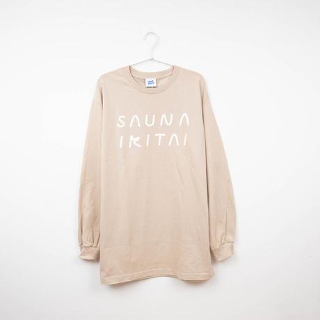英字ロゴLong Sleeve T-Shirt  ベージュ