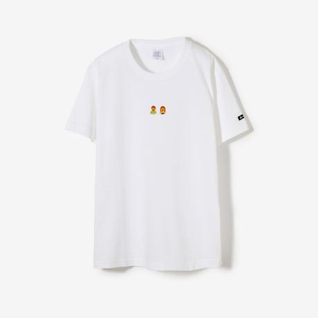 サウナ刺繍T(white)