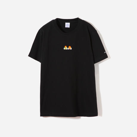 サウナ刺繍T(Black)