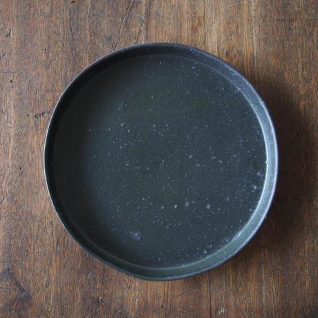 辻口康夫  黒釉8寸盆皿