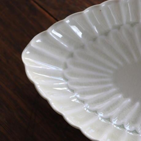 三浦ナオコ  輪花楕円鉢