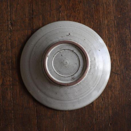 辻口康夫  月明釉菊文5.5寸皿