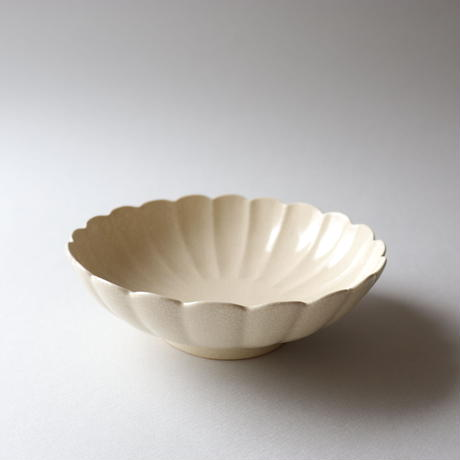 石黒剛一郎 輪花鉢(白)