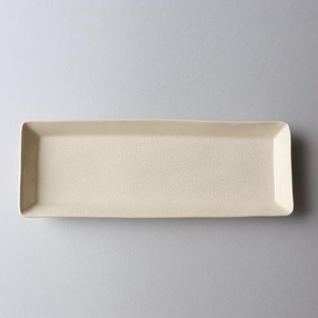 石黒剛一郎 長皿(白)
