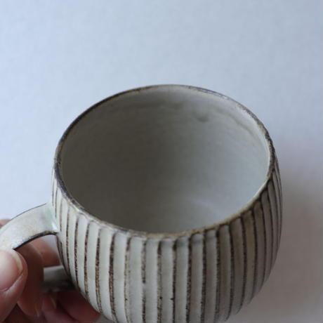 小倉夏樹 灰粉引 鎬マグカップ