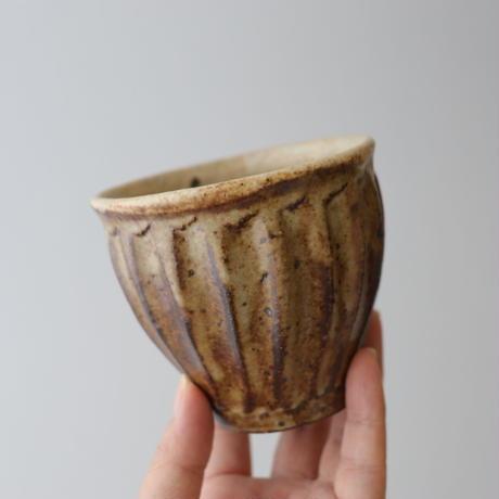 及川静香 削りカップ(茶)