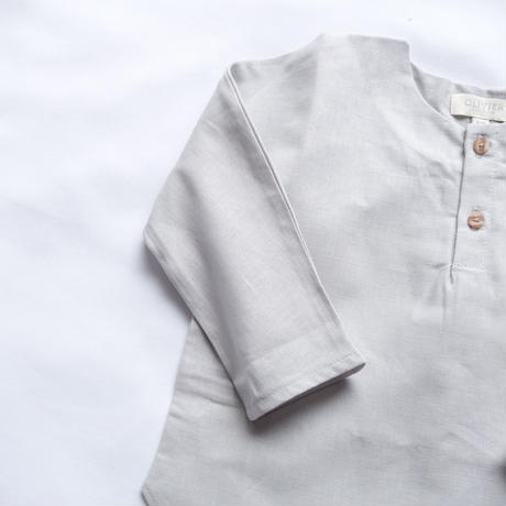 OLIVIER LONDON  / Linen Monty Linen Shirt   - Grey -