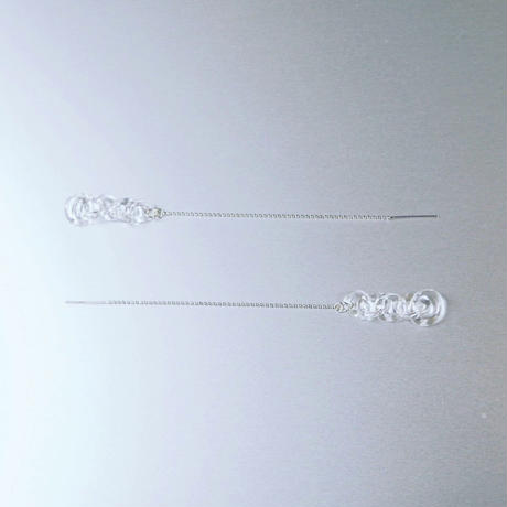 Round Chain Earring Long SV