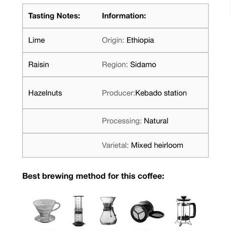 コーヒー豆/ ethiopia kebado (250g)