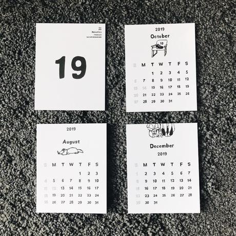 2019 卓上カレンダー