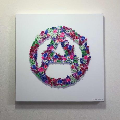 """SCAB CLUB """"ANARCHY FLOWER"""" CANVAS ART"""