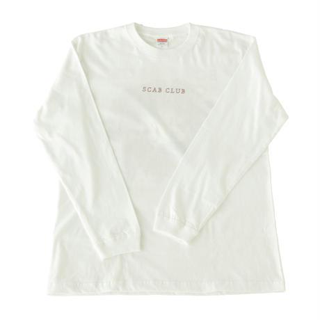 SCABCLUB FLOWER Long Sleeve T-Shirts WHITE