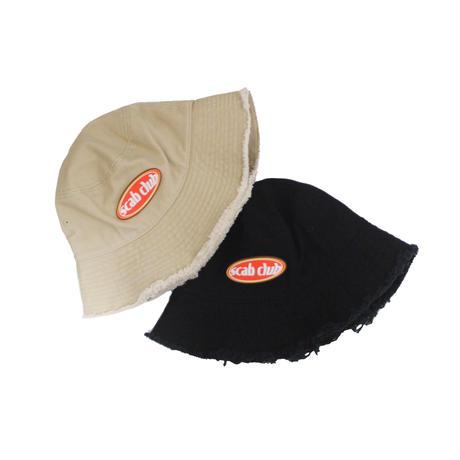"""SCAB CLUB Oval Logo Bucket Hat"" BEIGE"