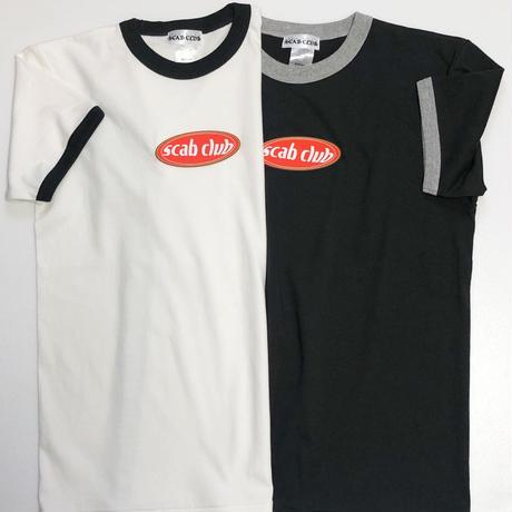"""【受注生産】""""SCAB CLUB Oval Logo Ringer T-Shirt """"  BLACK"""