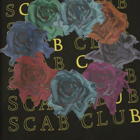 SCABCLUB FLOWER HOODIE BLACK
