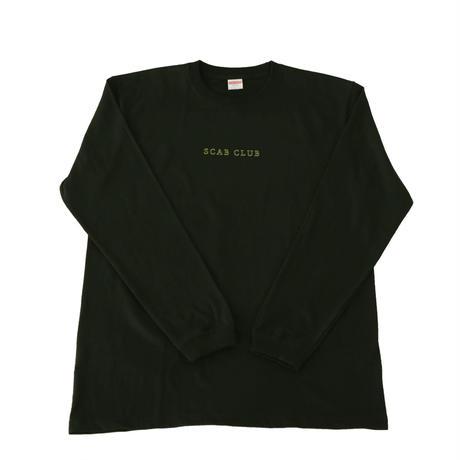 SCABCLUB FLOWER Long Sleeve T-Shirts BLACK