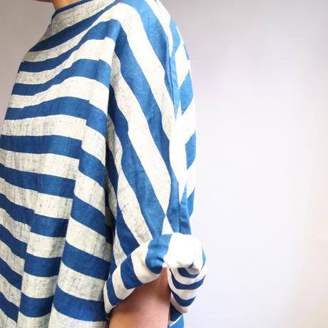インディゴ抜染マリンボーダー ドレス <16115-DR / BLUE>