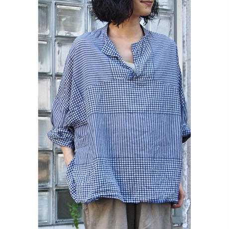 プルオーバーシャツ<17102-BL / NAVY>