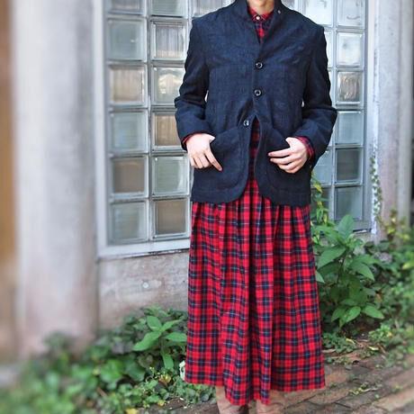 ウールコットン グレンチェックジャケット<18303-JK>