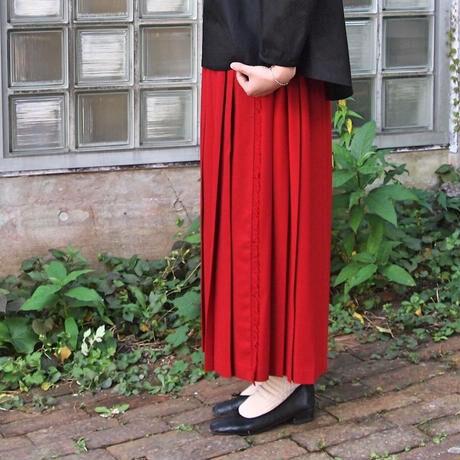 ラップ風  2/60ハイカウントフラノ プリーツスカート<17301-PS>