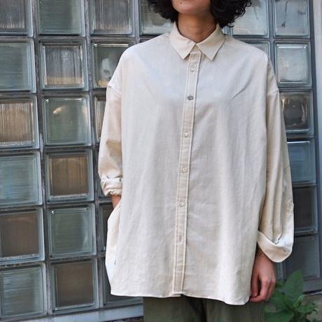 27W マイクロシャツコール ワイドシャツ<18315-SH / WHITE>