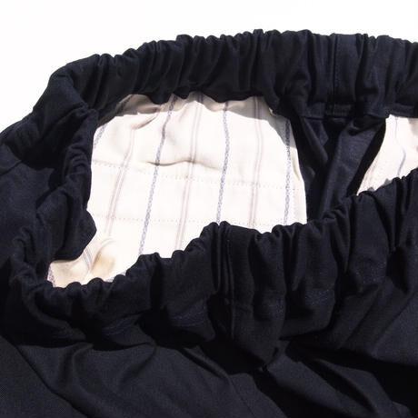 ムラ糸バックサテンストレッチ染料顔料 イージーパンツ<16113-PT >