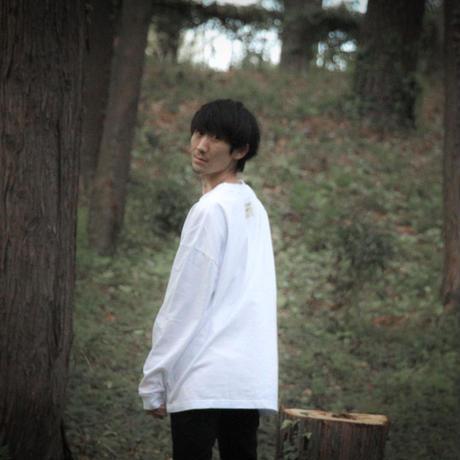 【受注生産】White canvas Long T-shirts