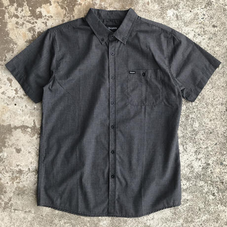 BRIXTON CENTRAL S/S SHIRTS HEATHER BLACK  半袖 シャツ