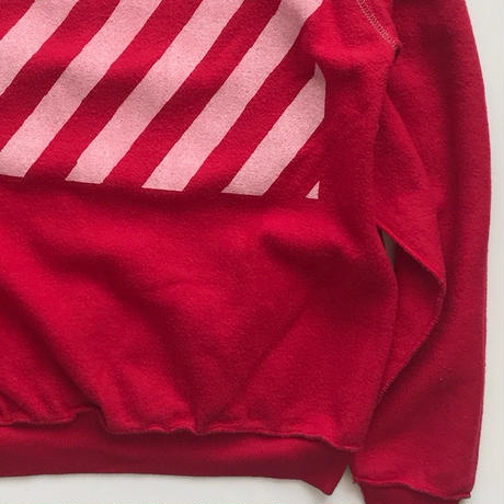 Vintage raglan sweat shirts Red
