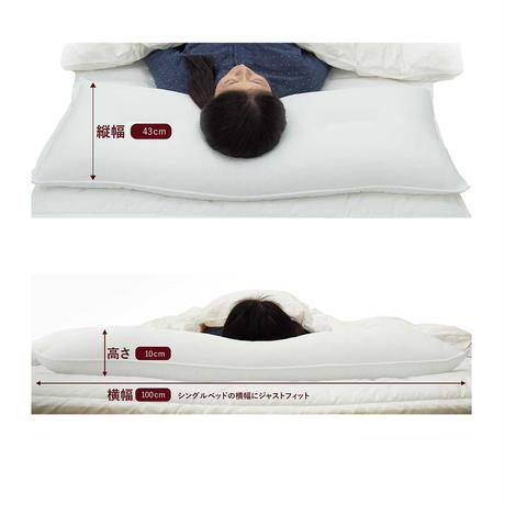 【送料無料】スーパーホテル仕様ハニカムコルマ枕(大) 100cm×43cm 枕カバー2 枚付
