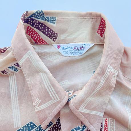 70's Button up shirt / 70年代 総柄ボタンアップシャツ
