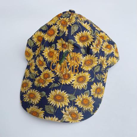 Merklay headgear sunflower cap / USED 総柄キャップ