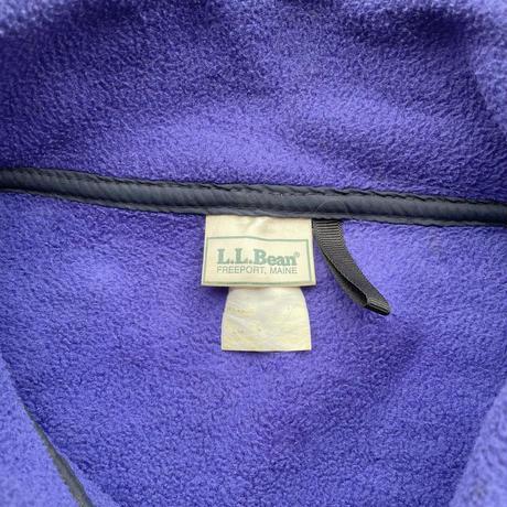 90's L.L.Bean fleece shirt Blue / 90年代 エルエルビーン フリースジャケット