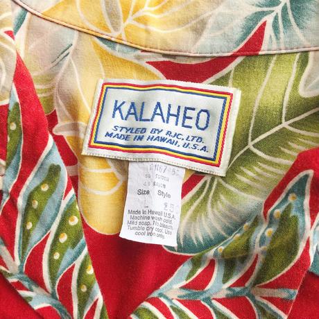 80~90's Kalaheo aloha shirt