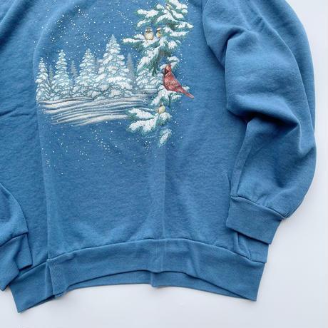 90's Jerzees winter bird sweat / 90年代 ジャージーズ プリントスウェット
