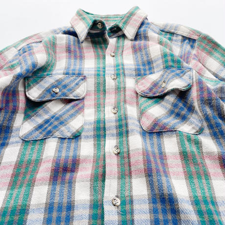 80's Fivebrother heavy flannel shirt / 80年代 ファイブブラザー ネルシャツ